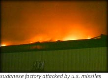 sudanese factory attacked by u.s. missiles, Aug 20, 1998